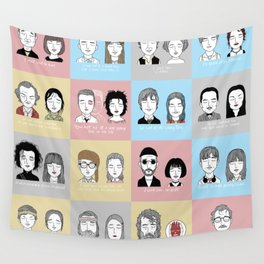 Sad Movie Couples Wall Tapestry