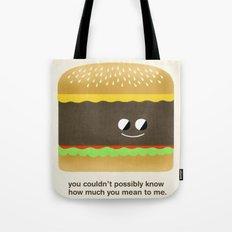 Cheesy Burger Tote Bag