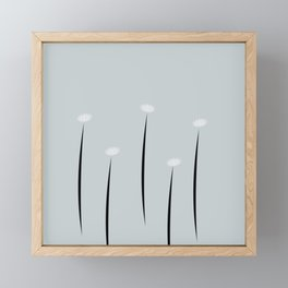 Abstract Tiny Flowers Daisies Framed Mini Art Print