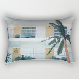 Retro Motel in Wildwood, New Jersey Rectangular Pillow
