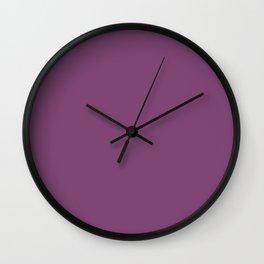 Grape Kiss Purple   Solid COlour Wall Clock