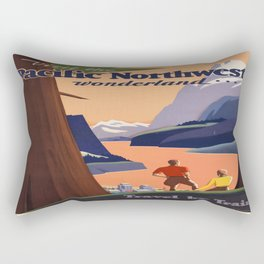 Vintage poster - Pacific Northwest Rectangular Pillow