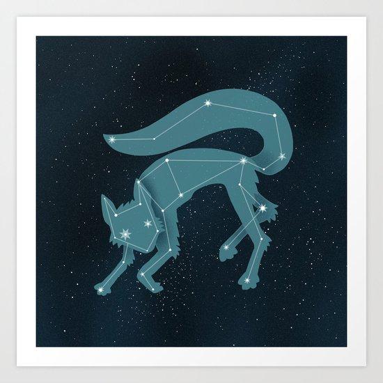Star Fox (Vulpes astra) Art Print