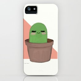 Chill Cactus iPhone Case