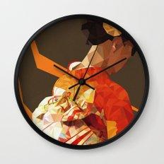 Polygonal kimono girl Wall Clock