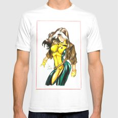 Rogue X-men Mens Fitted Tee MEDIUM White