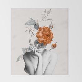 Rose 3 Throw Blanket