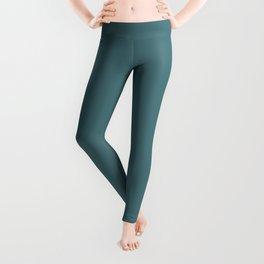 Solid Dark Beetle Green Color Leggings