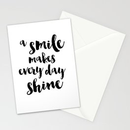 A Smile Makes Every Day Shine Stationery Cards