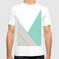MINIMAL COMPLEXITY White Mens Fitted Tee MEDIUM
