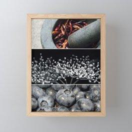 Cayenne Pepper, Elderflower, Blueberries Framed Mini Art Print