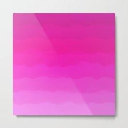 Bright Hot Pink Love Metal Print