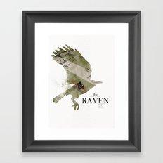 The Raven (2012) minimal poster Framed Art Print