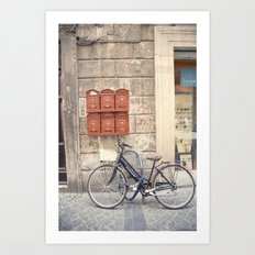 bike love::rome, italy Art Print