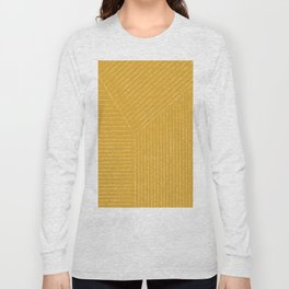 Lines / Yellow Long Sleeve T-shirt