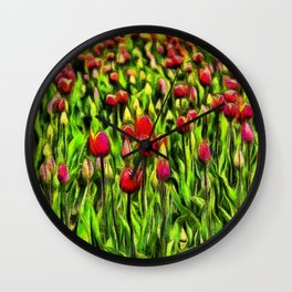 Forever Tulips Wall Clock