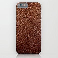 Leather Texture (Dark Brown) iPhone 6s Slim Case