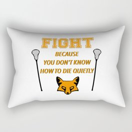 """The Foxhole Court – """"Fight"""" – All For The Game Rectangular Pillow"""