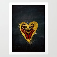 Butterfly wings in my heart Art Print