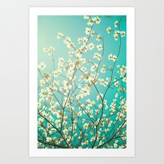 The dogwoods are blooming. Art Print