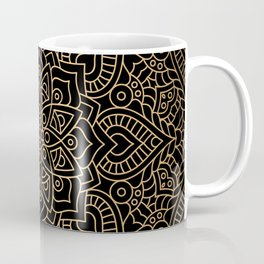 Black Gold Mandala Coffee Mug