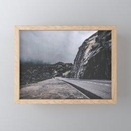 Dark Foggy Road Framed Mini Art Print