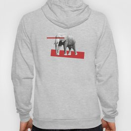 elephant behind bars Hoody