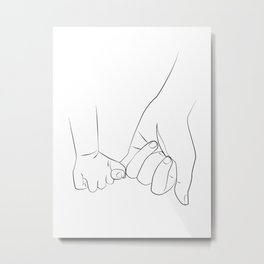 promettre - The dad son promise Metal Print