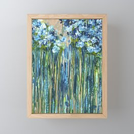 Forget me not -  Blue floral abstract Framed Mini Art Print