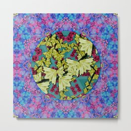 flowers and the cherry blossom tree is blooming so free Metal Print