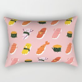 Sushi Kawaii Pink Rectangular Pillow