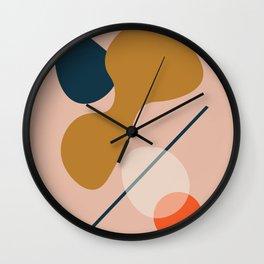 Abstract # 5 Beige Blue Orange Wall Clock