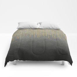 Dark Glamour golden faux glitter Comforters