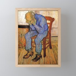 At Eternity's Gate by Vincent van Gogh Framed Mini Art Print