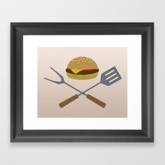 Jolly Burger Framed Art Print