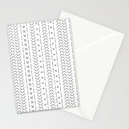 White and gray boho pattern Stationery Cards