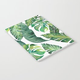 Jungle Leaves, Banana, Monstera #society6 Notebook
