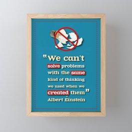 Einstein on Problem Solving Framed Mini Art Print