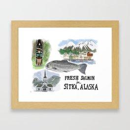 Salmon in Sitka, Alaska Framed Art Print
