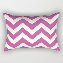 Mulberry - pink color - Zigzag Chevron Pattern Rectangular Pillow