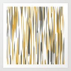 Gold gray and white Art Print