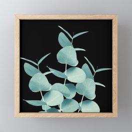 Eucalyptus Leaves Green Black #1 #foliage #decor #art #society6 Framed Mini Art Print