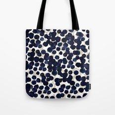 Indigo Velvet Dots Tote Bag