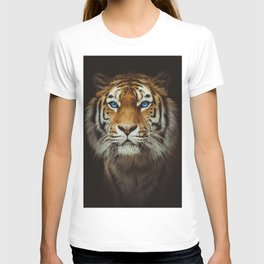 Wild Tiger with Blue eyes T-shirt
