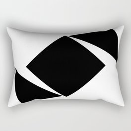 Abstract Modern Minimalist shapes Graphic Square triangles - balance Rectangular Pillow