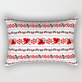 Ethno Ukrainian Pattern - Grape Guelder rose Oak - Symbol Rectangular Pillow