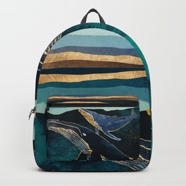 Moonlit Whales Backpack