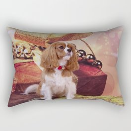 Ribbons, Bells And Cavalier King Charles Spaniel Rectangular Pillow