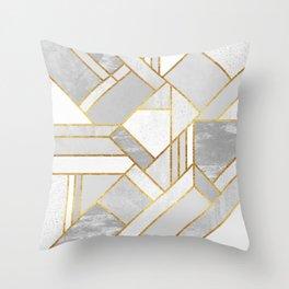Gold City Throw Pillow