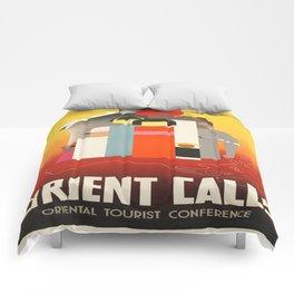 Vintage poster - Oriental Tourist Conference Comforters